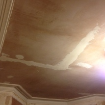 Day 4: Final patching on ceiling