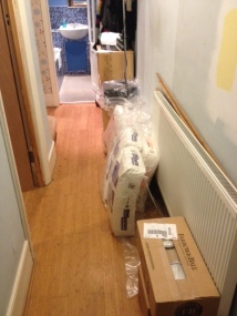 Day 3: Plaster arrives, and paint