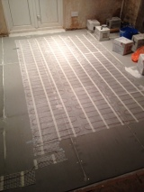 And so then it was starting on the floor...and the underfloor heating mats