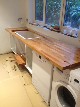 And the start of a work surface!