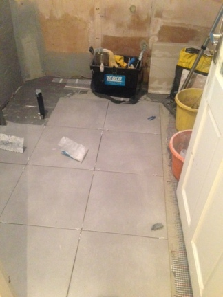 Floor tiles going down!