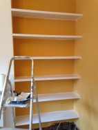Shelves in progress