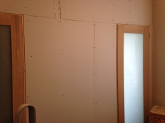 Plasterboard goes in