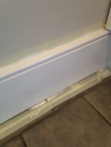 Starting on the kitchen skirting boards