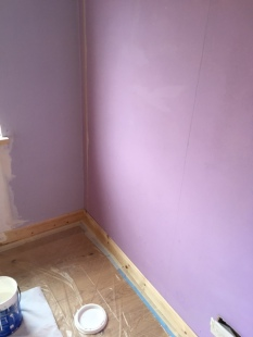 The wall colour